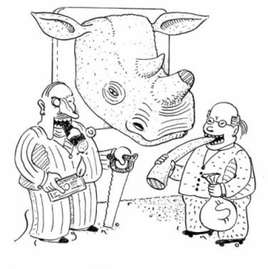 rhino poached cartoon