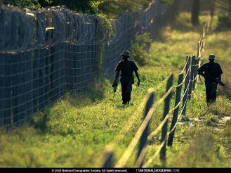 Kgalagadi Park rangers on perimeter patrol.