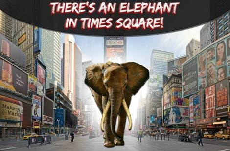 elephant in times square