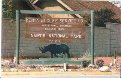 nairobi nat park sign