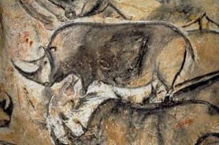 rhino cave painting