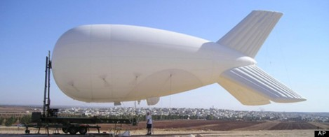 "An aerostat balloon similar to this one along the Mexican/US border, will be used as the ""eye in the sky"" to monitor Kruger National Park."