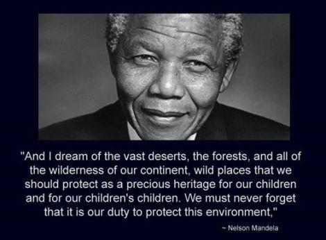 mandela save environment