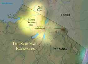 serengeti map