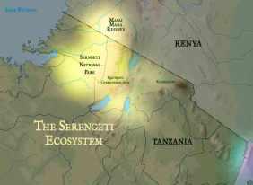serengeti map