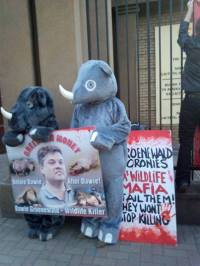 Rhino advocates from OSCAP outside of court.