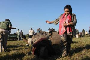 Molewa with rhino