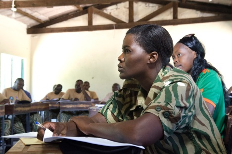 Zambia female officer