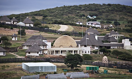 President Zuma's home complete with amphitheater and pool.
