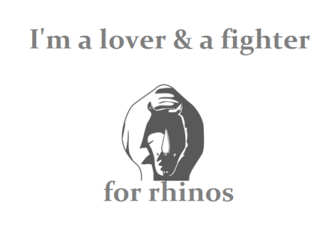 Rhino tee lover and fighter