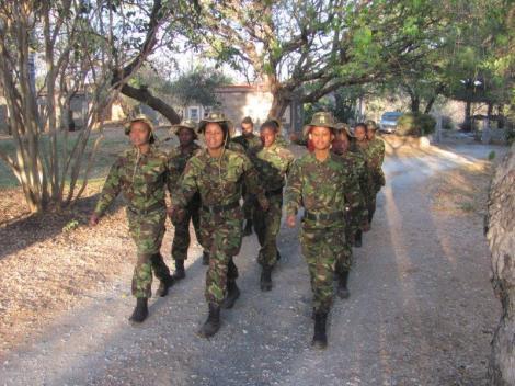 Black mambas marching