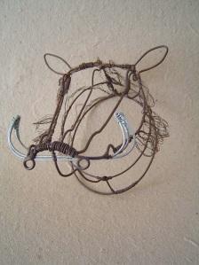 warthog wire art painted dog conservation fund