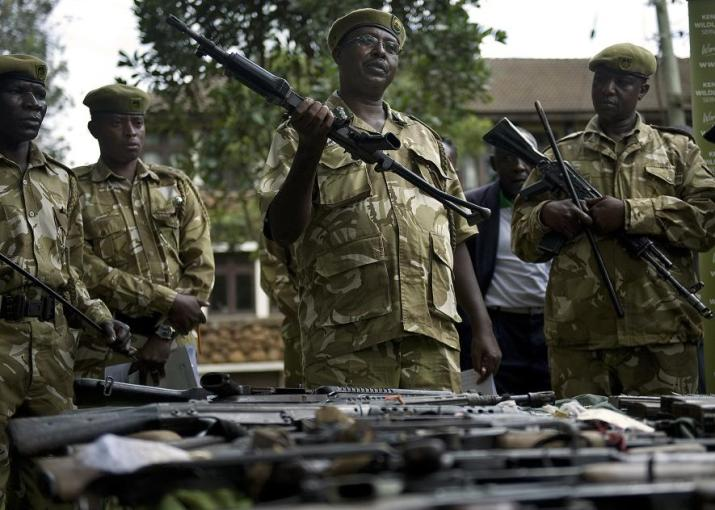kws with seized firearms by tony karumba